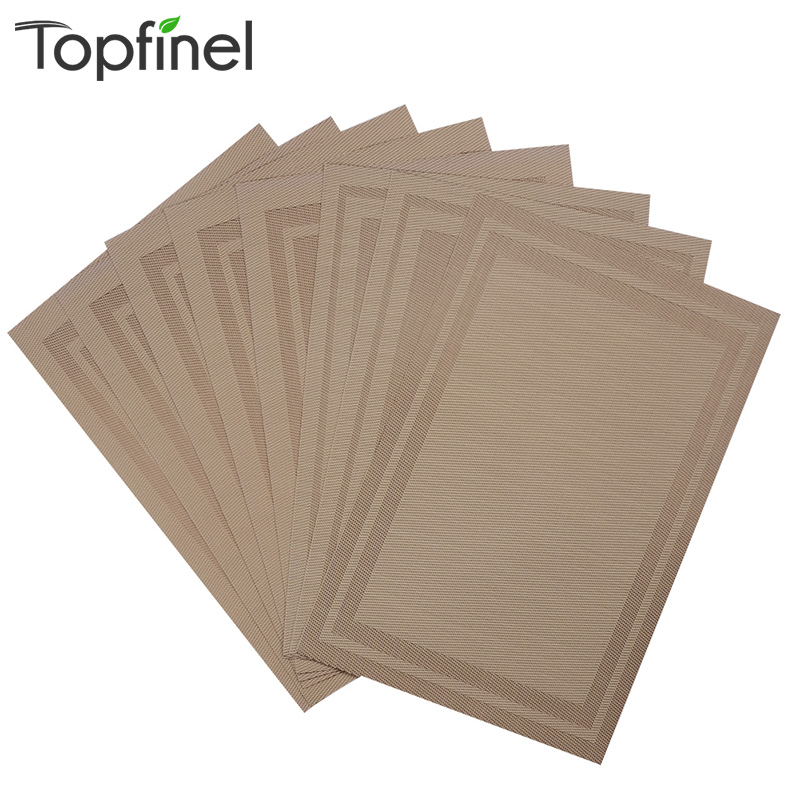 Top Finel Set of 8 PVC Vinyl Placemats for Dining Table Runner Linen Place Mat in Kitchen Accessories Cup Wine Mat Coaster Pad(China (Mainland))