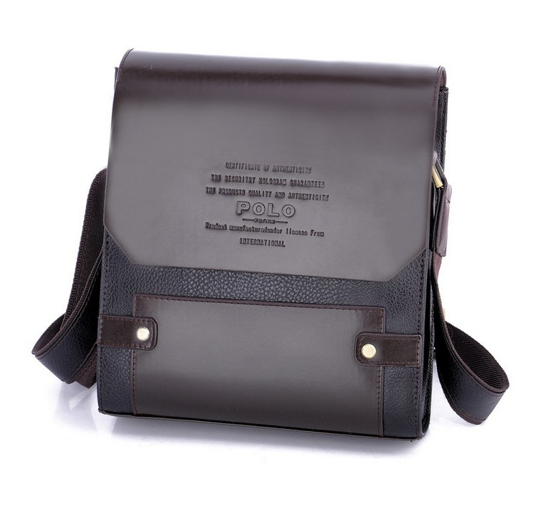 2014 Real Rushed Men Print Paul Pu Leather Man Bag Male Casual Oblique Shoulder Messenger Leather Commercial Handbag(China (Mainland))