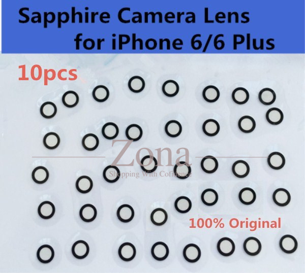 "10pcs Original Camera Single Glass Lens for iPhone 6/ 6 Plus;Sapphire Crystal Single Glass Without Frame for iPhone 6 4.7""/ 5.5""(China (Mainland))"