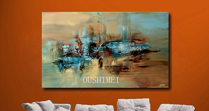 100 Handmade Abstract Oil Painting Large Wall Art On