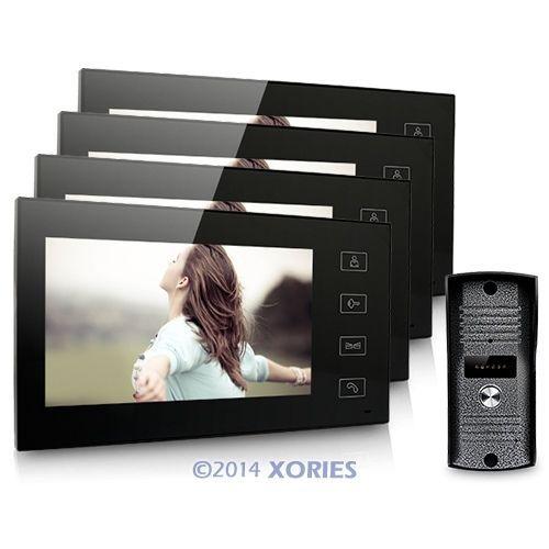 "1V4 Wired 7"" Video Door Phone Intercom Home Security System With 700TVL Camera(China (Mainland))"