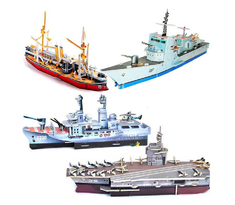 Christmas gift baby care paper toy DIY children toys Toys for Chidren eaduaction plane ship rokect tracker enough model(China (Mainland))