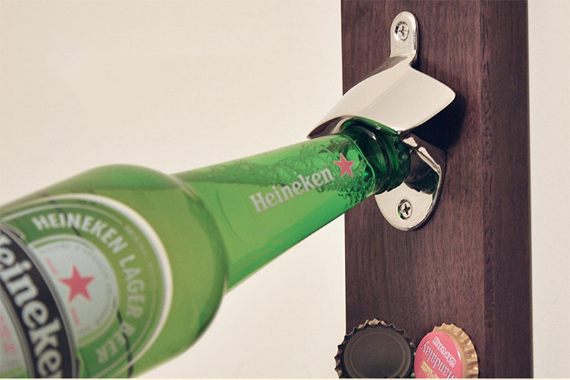 1 PCS Hot Sale Stainless Steel Wall Mount Bar Beer Glass Cap Bottle Opener Kitchen Tool(China (Mainland))