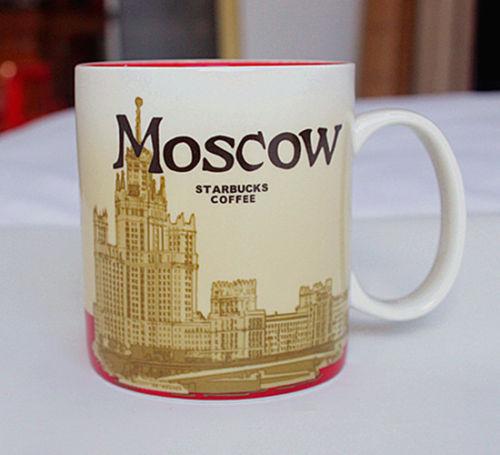 16oz Coffee Mug Global Idol City Moscow Collector Series Mugs(China (Mainland))