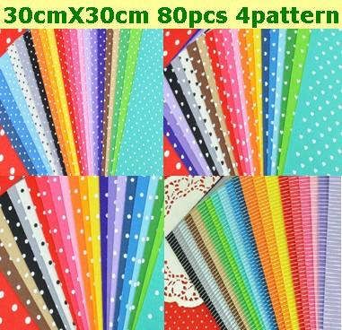 80pcs felt fabric polka dot heart strip printed 20 mix for Polka dot felt fabric