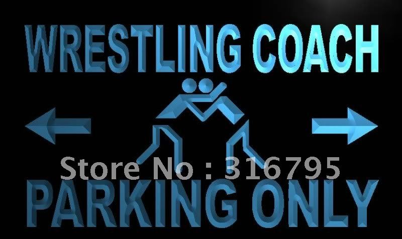 m464-b Wrestling Coach Parking Only LED Neon Light Sign(China (Mainland))