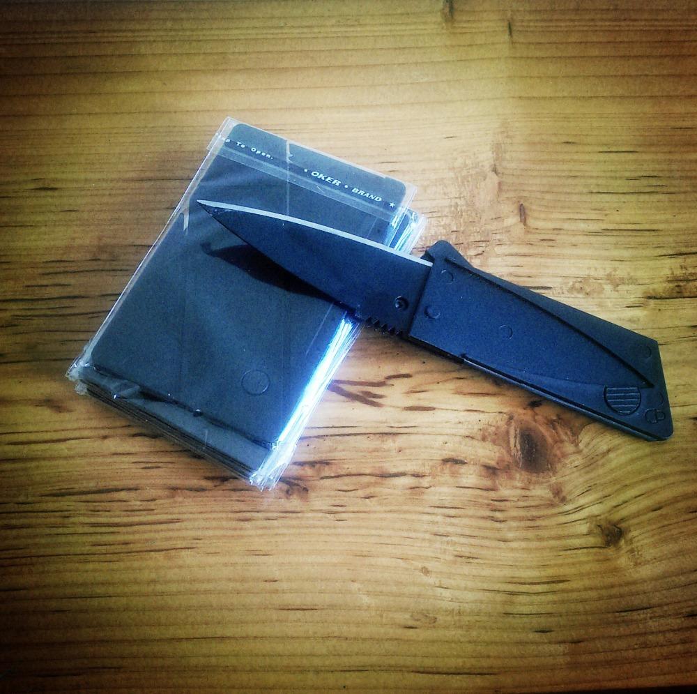 Credit Card Knife Folding Blade Knife Pocket Mini Wallet Camping Outdoor Pocket Tools Folding Tactical Knife(China (Mainland))