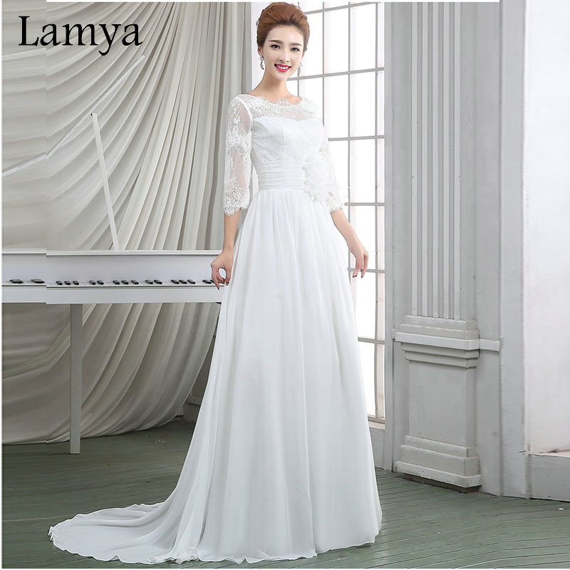 Buy mermaid lace wedding dress princess for Half sleeve wedding dress