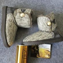 Invierno nuevas botas cortas nieve de las mujeres calientes caliente estilo Retro zapatos planos ocasionales(China (Mainland))
