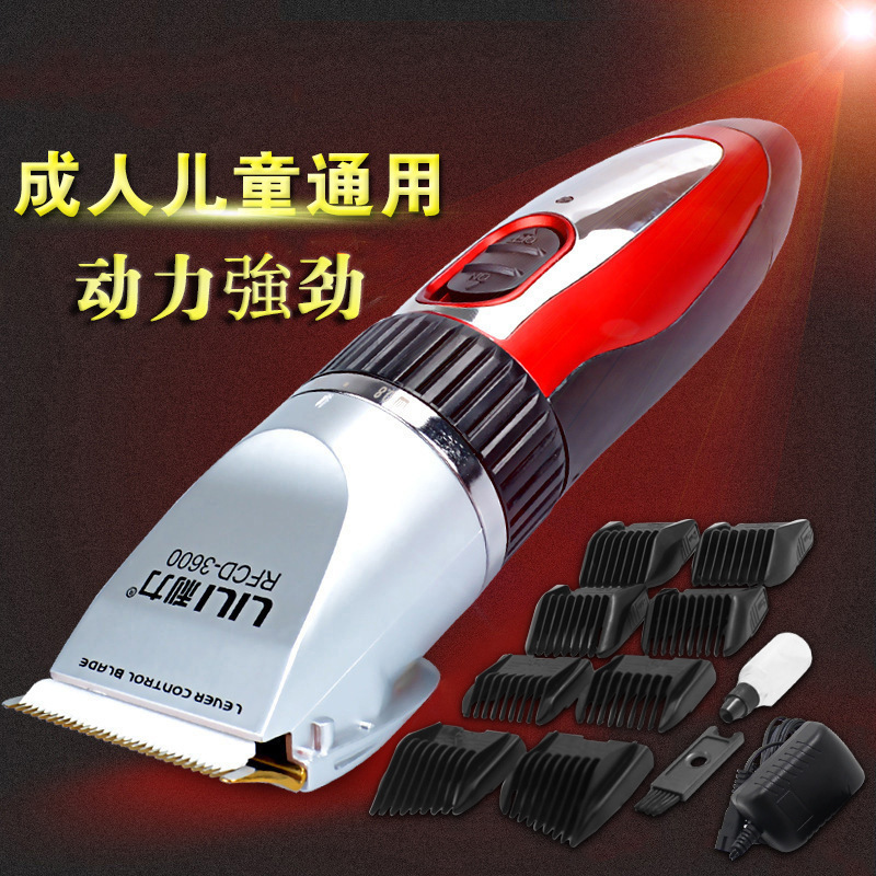 Titanium Ceramic Clipper Electric Clippers Rechargeable Electric Hair Clippers Adult Infant Mute Electric Razor Hair Home(China (Mainland))