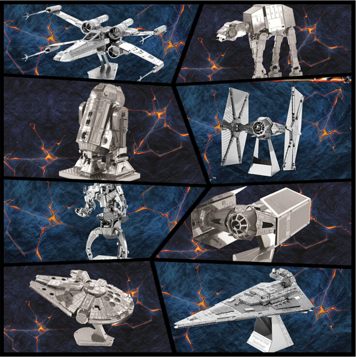 Free Shipping Hot Sale puzzle toys maquetas star wars metal Building Kits 3D Scale Models DIY Metallic Nano Puzzle Toys(China (Mainland))