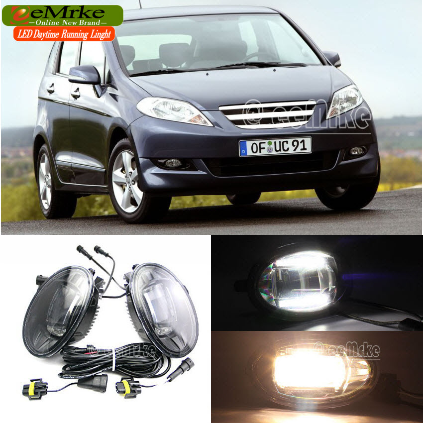 eeMrke Car Styling Led DRL For Honda Freed FRV 2 in 1 LED Fog Lights Lamp With Q5 Lens Daytime Running Lights(China (Mainland))