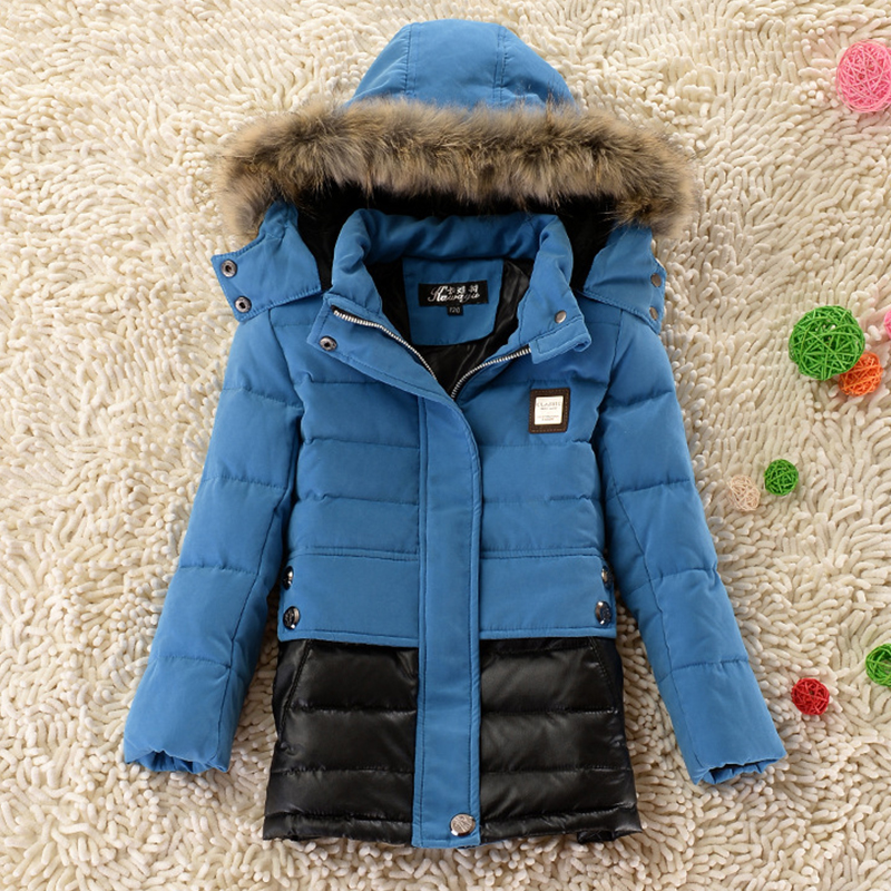 Children's Jackets Fashion 2015 Boys Winter Jacket Thick Hooded Parkas Warm Boys Winter Coat Down Jacket Winter Child Outerwear(China (Mainland))