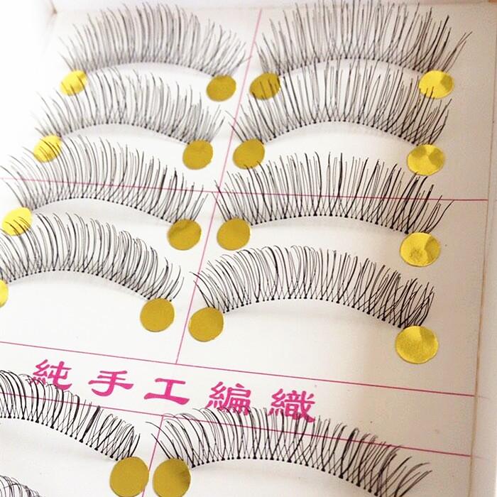 Maquiagem Faux Cils Papillon 10 Pairs Handmade Eyelash Fake False Eyelashes Natural Look Transparent False Lashes Free Shipping(China (Mainland))