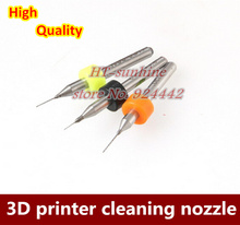 Free shipping  5Sets  3D printer makerbot mendel reprap cleaning nozzle drill 0.4mm/0.3mm/0.2mm for MK7 or MK8 nozzle