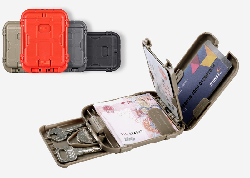 Outdoor Camping EDC Military Wallet Tactical Multifunction Anti-degaussing Design Protect Gear Portable Travel Kits 4 Colors(China (Mainland))