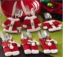 Рождество нож и вилка карман посуда крышка практические предметы домашнего обихода прочный пальто и трусы посуда новогоднее украшение