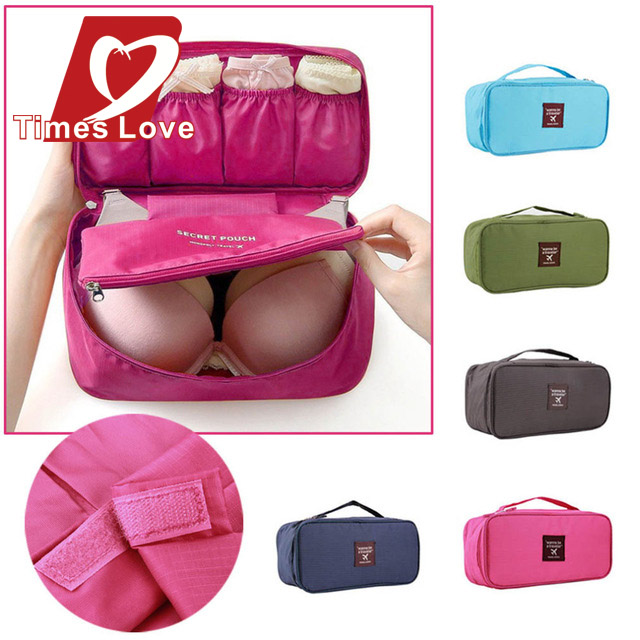 2015 New women bag Travel Bags Bath Cosmetic Bags Travel Cosmetic Makeup Bag Toiletry Wash Storage Case Underwear Bra(China (Mainland))