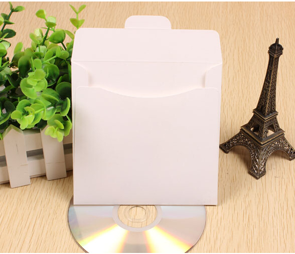 white paper storage box cd , white cd disc case , paper dvd cover(China (Mainland))