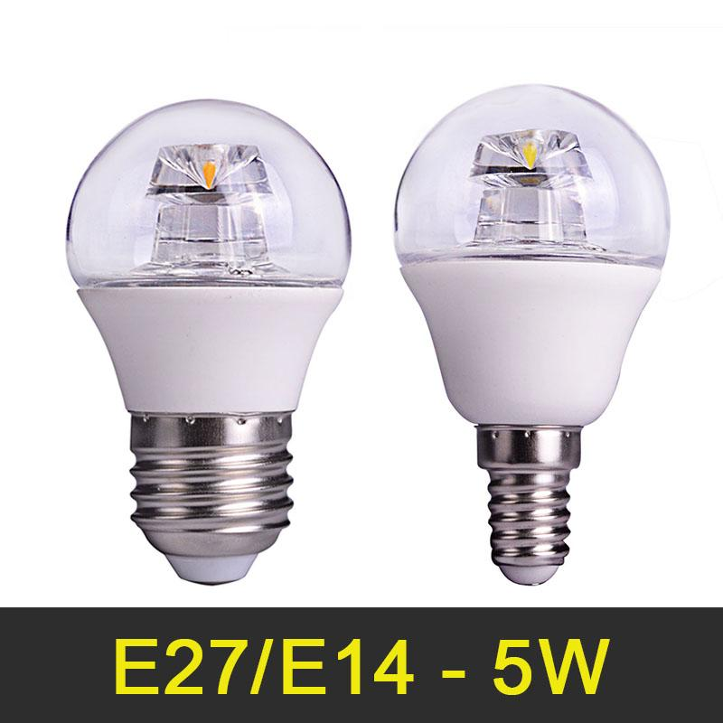 Wholesale LED Lamp 5W E14 E27 110V 220V COB LED Bulb Ligths Bombillas LED Chandelier Lamps Crystal LED Light Pipe G45 50pcs/lot<br><br>Aliexpress