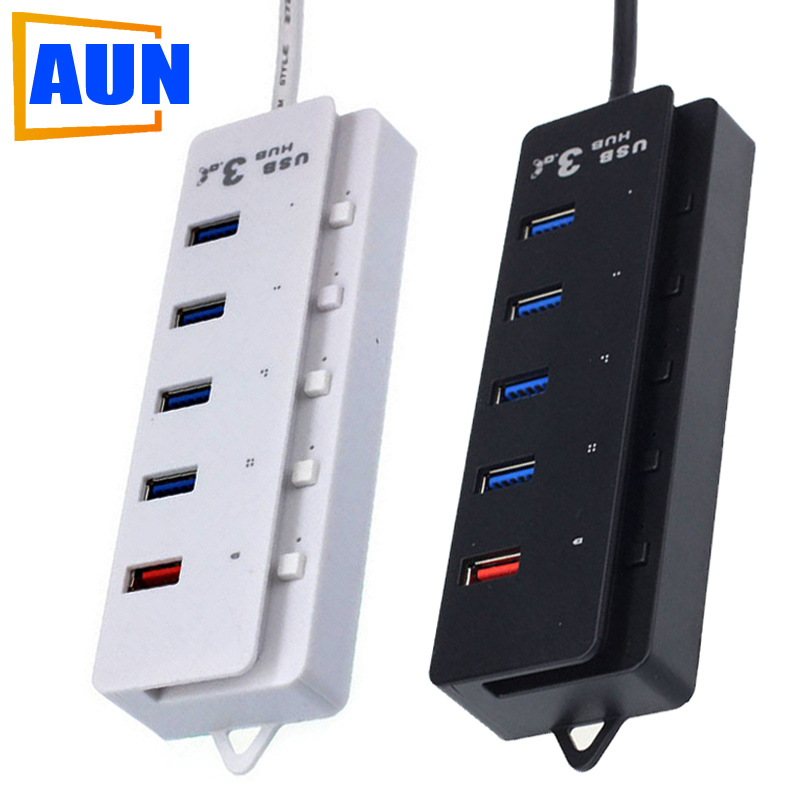 High Speed 5 Port USB HUB 3.0 (1 for Fast Charging Interface) For Notebook Office Equipment HUB004 Z(China (Mainland))