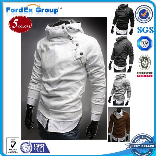 Fashion Men's Side Zipper Jackets Assassins Creed Sportswear Man Hoody Coat Fleece Hood Cardigan Tracksuit Sweatshirt  -  Fordex Industrial Group Limited store
