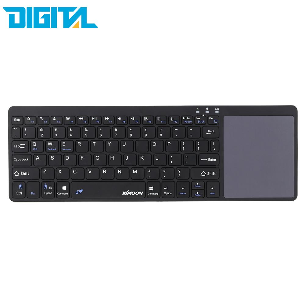 Kkmoon Brand New Utra-thin Mini Wireless English Bluetooth Keyboard Mouse Touchpad For Windows Android iOS PC Tablet MobilePhone(China (Mainland))