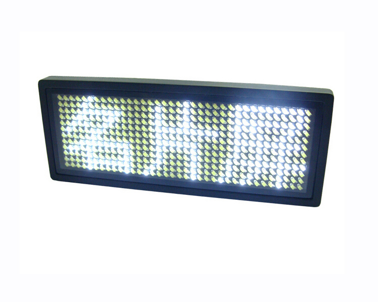 36*12 dots white LED name badge scrolling screen business card tag display rechargeable+Programmed order>=5pcs 10%off(China (Mainland))