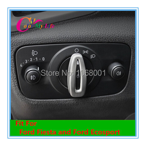 Car styling Headlight Switch Knob Cover Decorative Sequins sticker For Ford Fiesta Ecosport 2009 2010 2011 2012 2013 2014 2015(China (Mainland))