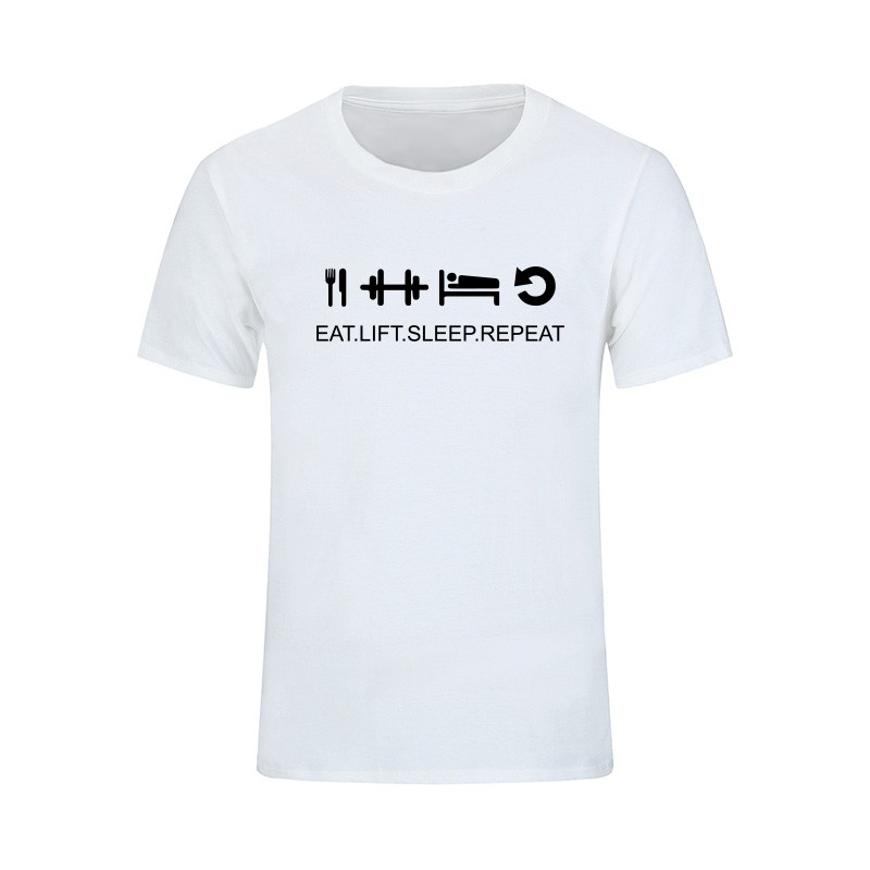 Music DJ Dimitri Vegas T Shirt Men Letters Printed T-shirt Eat Sleep Smash Repeat Tops Short Sleeve Cotton Tees