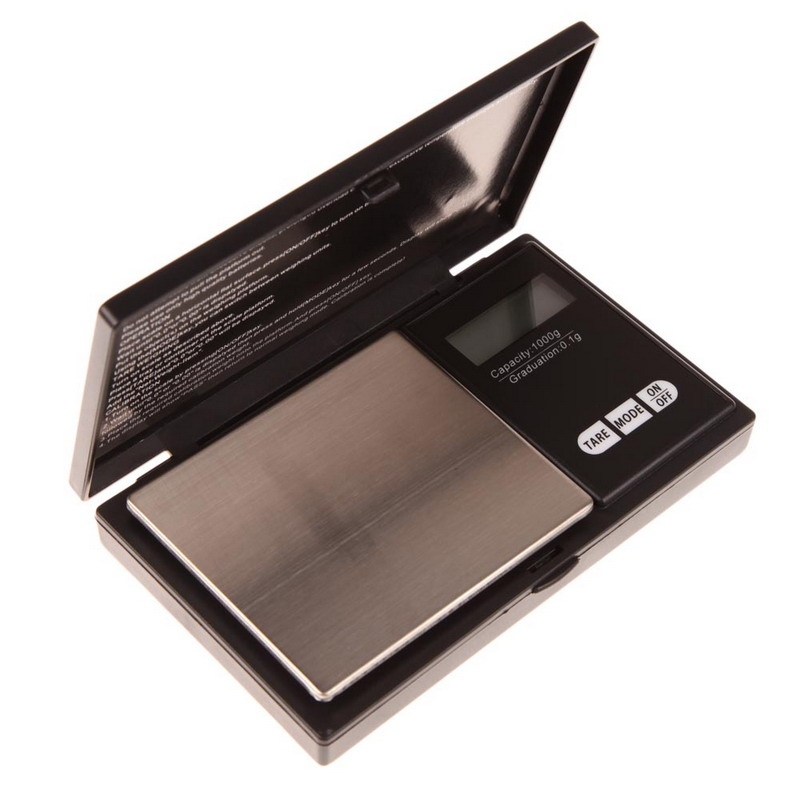Mini Precision Digital Scale 1000g x 0.1g Jewelry Gold Silver Coin Gram Pocket Size Display Units Pocket Electronic Scales(China (Mainland))