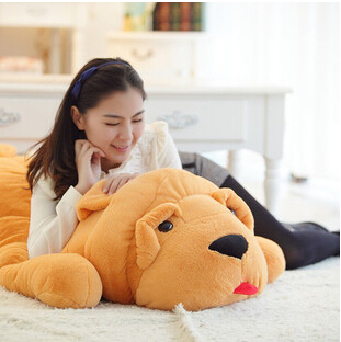 2015 new arrival 80cm life size stuffed dog push animal very cute sleeping wrinkled skin dog toy. Black Bedroom Furniture Sets. Home Design Ideas