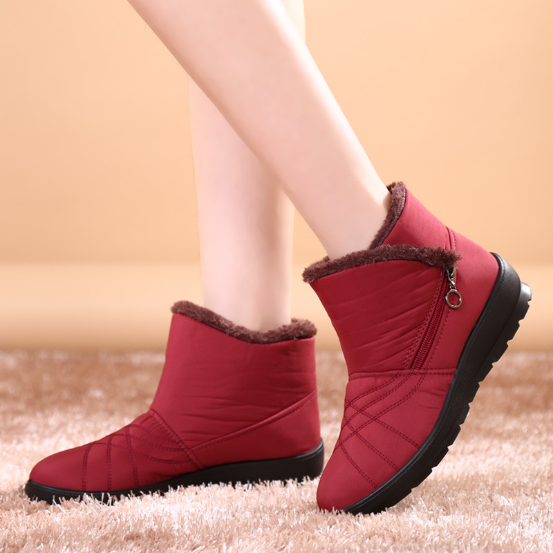 2017 autumn winter casual snow boots waterproof women ankle boots thermal flat slip-resistant fashion winter shoes woman boots