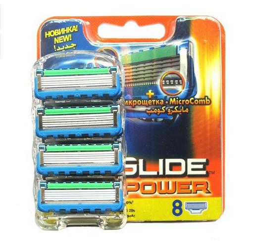 New 8pcs/ lot FP Proglide Power 4S Epilator shaver blades Men face Shaving Razor Blades for Men RU Sharpener in Original package(China (Mainland))