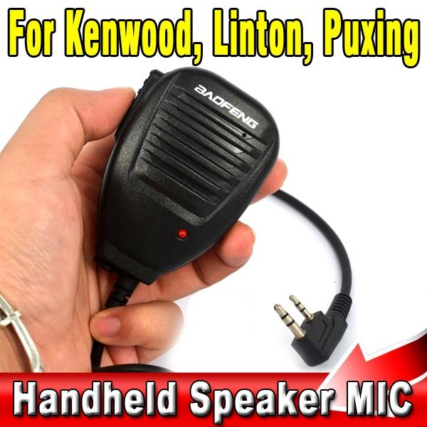 For BaoFeng Kenwood Wouxun etc Two Way Radio Walkie Talkie Heavy Duty Handheld Shoulder Speaker Hand held Mic Microphone(China (Mainland))