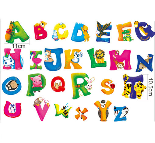 Paper alphabet letters promotion shop for promotional for Letters for kids rooms