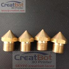 ( 5 pcs/ lot) 0.4mm Old Brass Nozzle for 3D Printer FDM Desktop Accessory CreatBot Precision High Quality