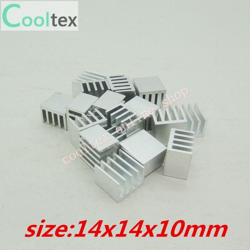 Free Shipping 500pcs  Extruded Aluminum heatsink 14x14x10mm, Chip/CPU /GPU/ VGA /LED /IC COOLER