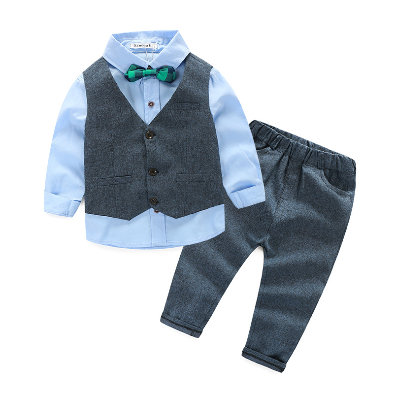 Fashion Kids Clothes Baby Boy Clothes Sets Gentleman Suit Toddler Boys Clothing Long Sleeve Children Clothing(China (Mainland))