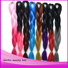 two toned color jumbo kanekalon ombre synthetic braiding hair bundles100g/pc high temperature expression braids hair extensions