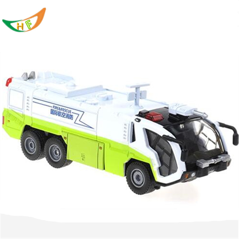 Kaidiwei new brinquedos boys 1:50 Acoustooptical rescue vehicles water gun fire truck alloy toy car model kids Christmas gift(China (Mainland))