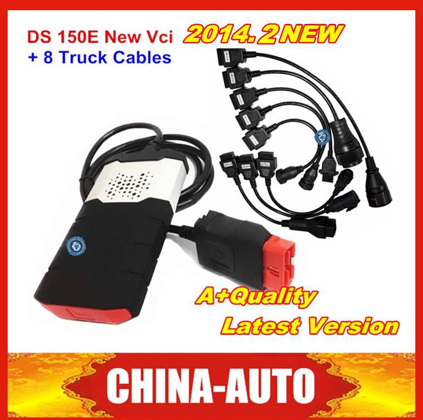 Lower Price 2014 R2. with Keygen TCS CDP PRO DS150E + 8 Truck Cables TCS CDP DS150E for Cars/Trucks Scanner CDP Free Shipping(China (Mainland))