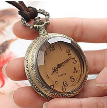 Vintage New Design Unique Antique Style Royal Coffee Color Specular Workable Pocket Watch Antique Pocket Watch