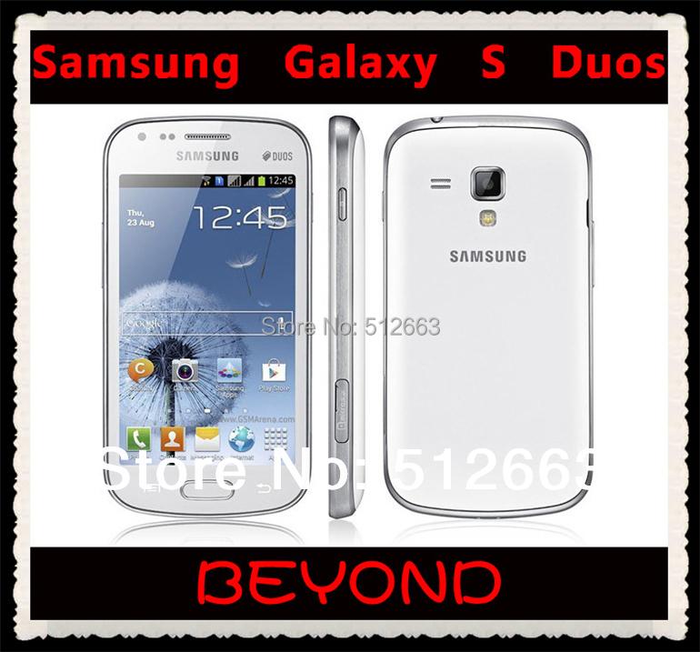 Samsung Galaxy S Duos S7562 Dual Sim phone unlocked 3G GSM mobile phone 4.0'' WIFI GPS 5MP 4GB smartphone(China (Mainland))