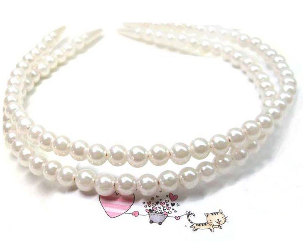 1* Women Lady Girl wedding Faux Pearl Beads Hair Band Head Band Party Tiara GIFT(China (Mainland))