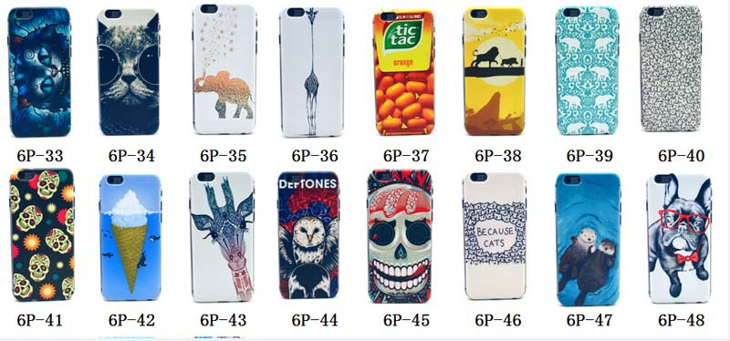 New Arrival Fashion PC Colored Drawing Strip pineapple Tower flower skeleton keep clam Hard PC Cover/Case for iphone 6 plus(China (Mainland))