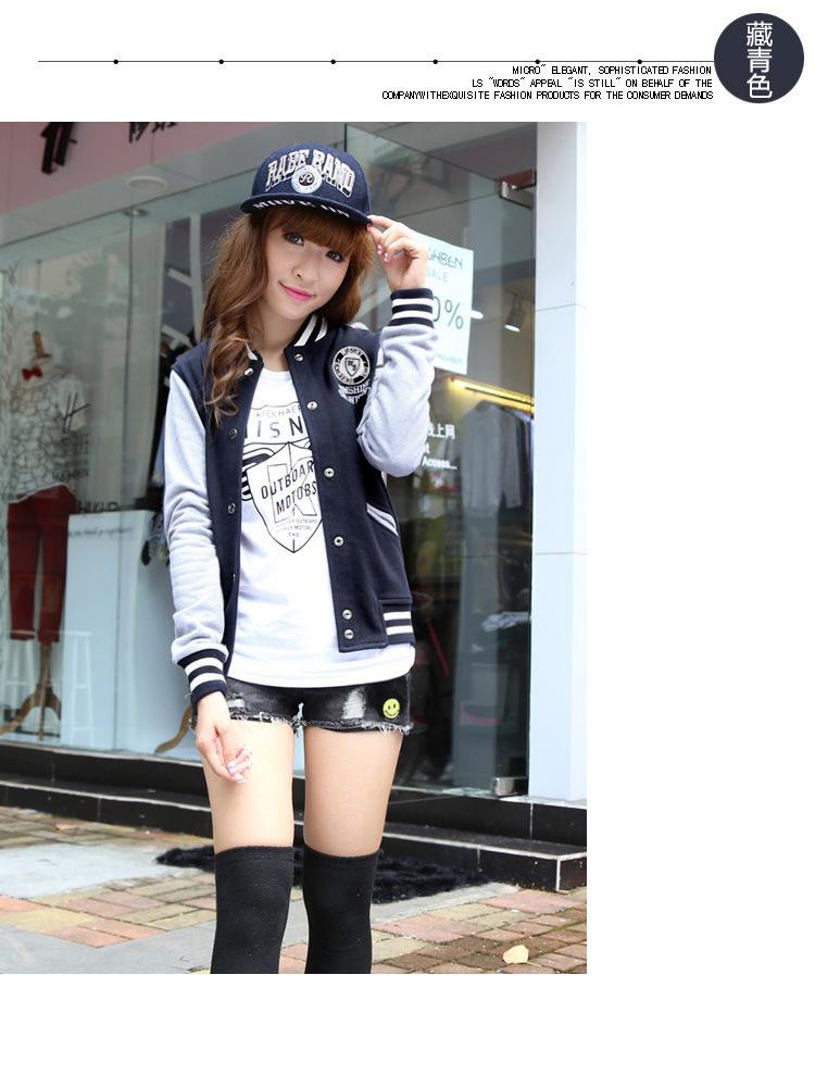 2015  Spring Coat Baseball Jacket Женщины Модный Bomber Jacket College Varsity Basic Jackets Casaco Jaquetas