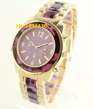 Moda de lujo Top marca vestido Reloj relojes Mujer hombre oro rosa de acero inoxidable Rhinestone de ginebra de cuarzo Reloj de Mujer Reloj w115