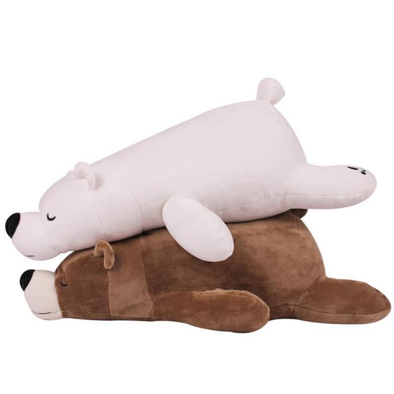 Hot 1 Piece 45cm Kawaii Teddy Bears Plush Soft Toys Polar Bear Stuffed Animals Ted Dolls For Children Gift(China (Mainland))