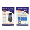 10pcs bag Patent Prefessional Police Digital Breath Alcohol Tester Breathalyzer with Mouthpiece 3 convertible unit Breathalyzer